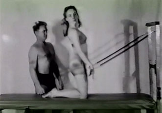 Archival image of Joseph Pilates and Romana Kryzanowska